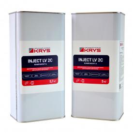 KRYS INJECT LV 2C - 2-компонентная полиуретановая смола Комплект 10,7 кг (5 кг + 5,7 кг) Для 100% уплотнения