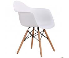Пластиковое кресло-стул AMF Salex PL 810х630х620 мм Wood белое