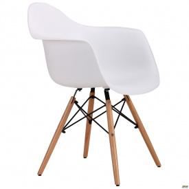 Пластикове крісло-стілець AMF Salex PL 810х630х620 мм Wood біле