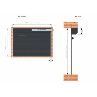 Автоматичні Ролетні ворота 3000x2200 Alutech профіль AG / 77