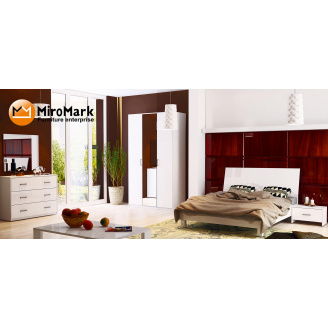 Спальня Рома 3Д белый глянец Миро-Марк