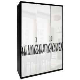 Шафа Терра 3Д без дзеркал білий глянець + чорний мат Миро-Марк