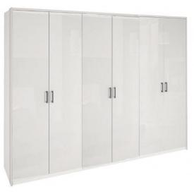 Шкаф Рома 6Д без зеркал белый глянец Миро-Марк