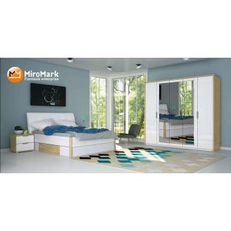 Спальня Флоренція 5Д дуб Сан Марино + білий глянець Миро-Марк