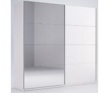 Шкаф-купе Фемели 2 белый глянец с зеркалом Миро-Марк