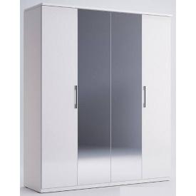 Шафа Фемелі 4Д білий глянець з дзеркалами Миро-Марк