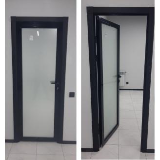 Алюмінієві двері міжкімнатні з фарбуванням по PAL 700-2000 мм