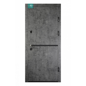 Вхідні двері Міністерство дверей ПК-209 ЕЛІТ Мармур темний 860х2050 мм