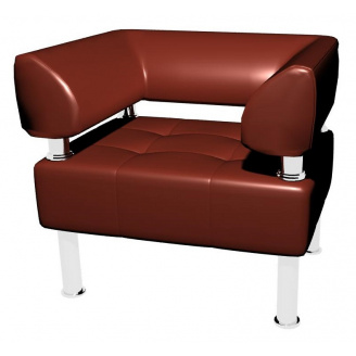 Офисное кресло Тонус 800х700x600 мм коричневое