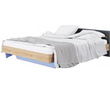 Кровать Бьянко 160 дуб артизан + графит Мир мебели