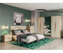 Спальня Смарт 6Д дуб Артізан + крем Світ меблів