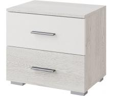 Тумба прикроватная Ромбо аляска + белый Мир мебели