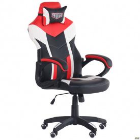 Геймерське комп`ютерне крісло АМФ VR Racer Dexter Hook 115-123х63х70 см чорний-червоний колір