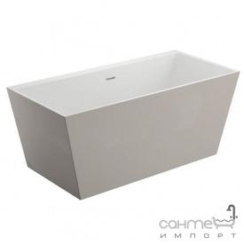 Прямокутна ванна окремостояча Polimat Lea 170х80 00416 біла/попеляста