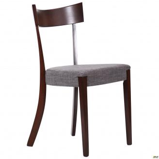 Деревянный стул обеденный AMF Гринфорд 820х450х490 мм орех темный графит