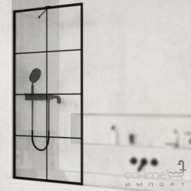 Шторка для ванной Radaway Modo New PNJ Black Factory 70 10006070-54-55 профиль черный/прозрачное стекло