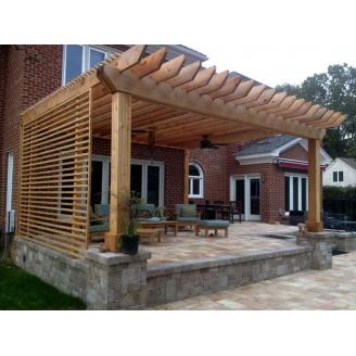 Будівництво дерев`яної перголи примикає до будинку під ключ