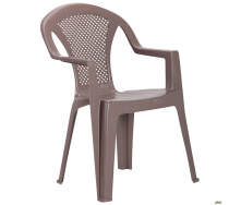 Пластиковое кресло AMF 820х590х570 мм тауп-кофейный цвет