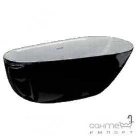 Отдельностоящая акриловая ванна Polimat Shila 170х85 00342 белая/черный глянец