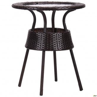 Садовый стол AMF Catalina 60 см ротанг коричневый