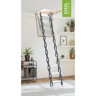 Чердачная лестница Bukwood Steel Clips 120x70