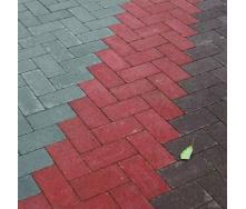 Тротуарна плитка Gartec Цегла без фаски 200х100х40 мм червоний на білому цементі