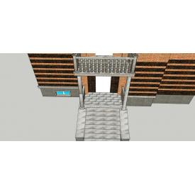 Проект укладки гранита на входе и стенах индивидуально