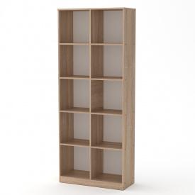 Книжный шкаф витрина Компанит КШ-2 открытый для дома офиса дуб-сонома