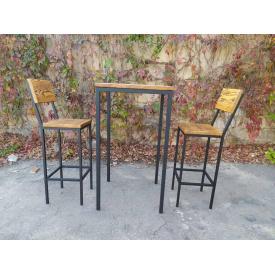 Комплект барний стіл + стільці GoodsMetall в стилі Лофт БК71