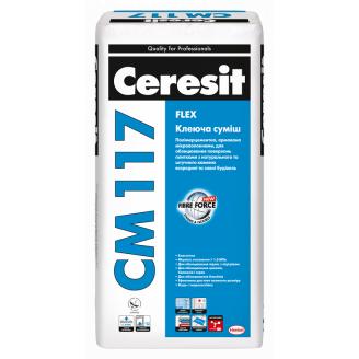 CM117 Flex Клей для плитки і натур каменю покращення Еласт 5 кг