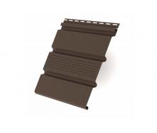 Панель софіта коричнева перфорована карнизної підшивки Rainway
