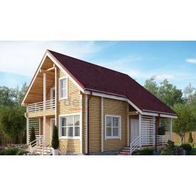 Будинок з профільованого бруса 140х180 мм Проект E-10 10,45х9,85 м