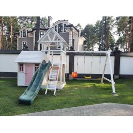 Деревянная детская площадка WOODEN TOWN №06 4,4х3,3х3,5 м