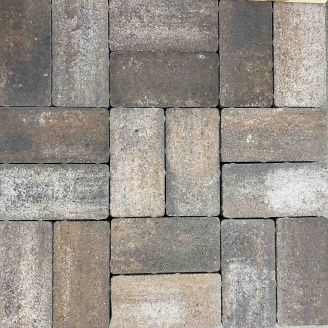 Тротуарна плитка Gartec Цегла без фаски 200х100х40 мм колор мікс Капучино