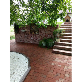 Тротуарная плитка Венеция Колормикс 6 см коричневый/таракотовый