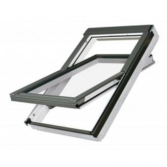 Мансардное окно Fakro PTP-V U3 c окладом EZV-P размер 06 (78х118)