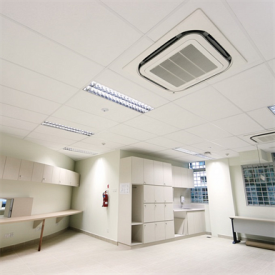 Акустическая влагостойкая медицинская белая плита Rockfon MediCare Standard 1200x600x12 мм