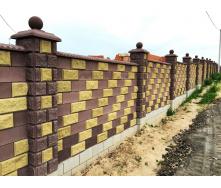 Блок декоративний рваний камінь кутовий 390х190х90х190 мм коричневий
