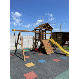 Деревянная детская площадка WOODEN TOWN №07 4,4х3,3х3,5 м