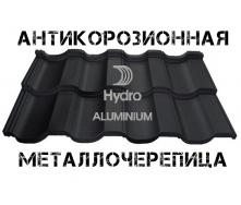 Модульна алюмінієва черепиця Геркулес Чорний