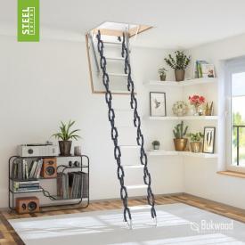 Чердачная лестница Bukwood Steel Clips 130х90 см