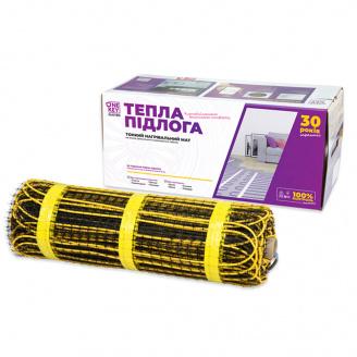 Електричний обігрів підлоги 2,0 м2 OneKeyElectro 300Вт Нагрівальний мат