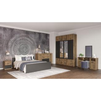 Спальня Лотос Світ меблів дуб фрегат / антрацит