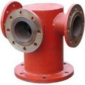 Стальная тройниковая подставка под пожарный гидрант 200 мм