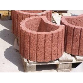 Клумба бетонная 350*210*40 мм красная