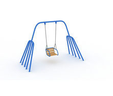 Качеля Осьминог одноместная 2х1,4х2,4 м