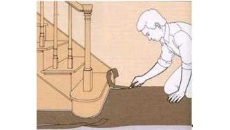 Укладання лінолеуму на підлогу складної форми