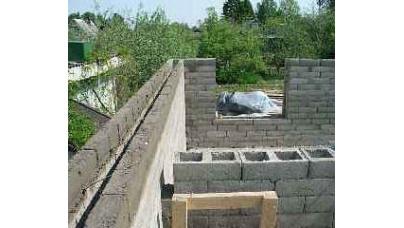 Шлакобетонові стіни. Шлакобетонові блоки