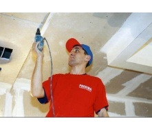 Монтаж подвесного гипсокартонного потолка в один уровень