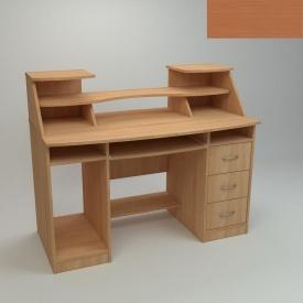 Комп'ютерний стіл Компанит Комфорт-5 1268х650х756 мм яблуня